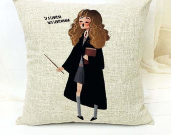 Harry Potter | Hermione - It's Leviosa not Leviohsaa Cushion Cover