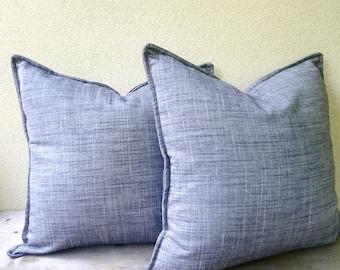 Grey silk cotton pillow cover - gray unisex cushion cover 16x16 - silk pillow case - modern minimal home decor - silver gray silk pillow