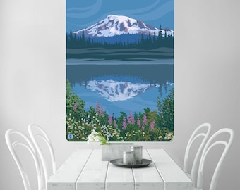 Mount Rainier Park Reflection Wall Decal - #60823
