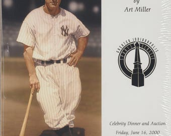 Lou Gehrig by Art Miller, Celebrity Dinner and Auction Print, New York Yankees Collectible, Baseball Memoribilia