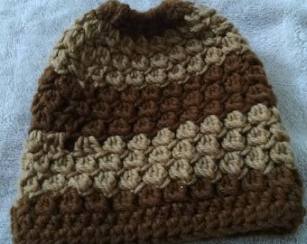 Messy bun  teen or child's hat