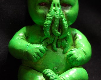Glowing Baby Cthulhu Resin Figure Toy Collectible