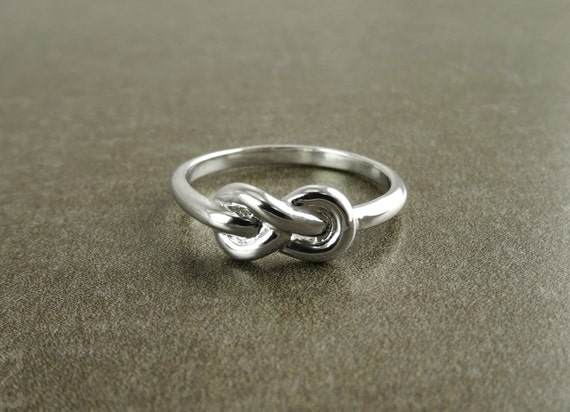 Double Infinity Ring, Sterling Silver, Eternity Ring, Knot Ring, Eternal Jewelry, Lifetime Ring, Promise Ring, Fidelity Ring, Dainty Ring