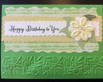 Homemade Card - Happy Birthday To You