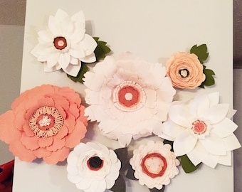 Felt Wall Flowers