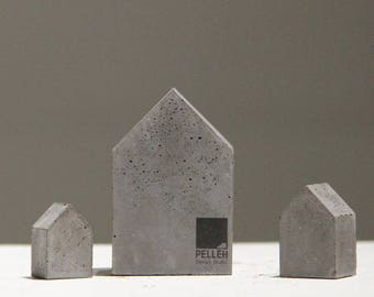 minimal concrete Bookends | Bookstopper