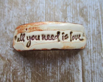 All You Need Is Love  bracelet focal   connector bead component  craft supplies