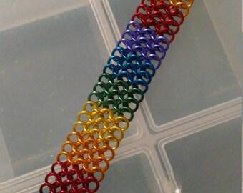 Custom Gay Pride Chainmaille Bracelet
