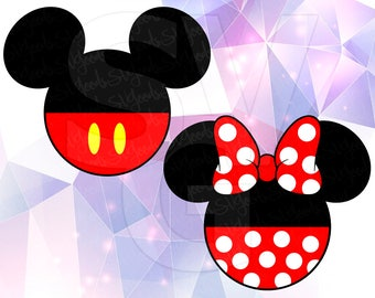 Mickey Minnie Mouse LAYERED SVG DXF Eps Vector Cuttable File Cricut Cameo Silhouette Vinyl Cut File Screen Printing Disney Printable Design