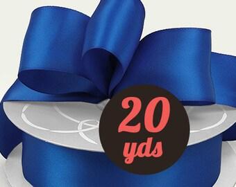 """Satin Royal Blue Ribbon - 7/8"""" wide at 20 yards"""