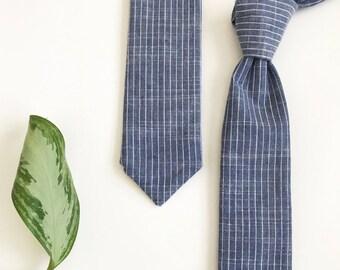 Boys Blue Pinstripe Adjustable Necktie