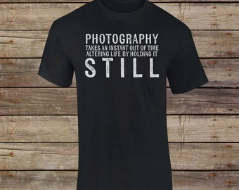 Photography Saying T-Shirt - Capture Memories - Film Camera - Photographer - Old School - Photographer Shirt - Photography Shirt