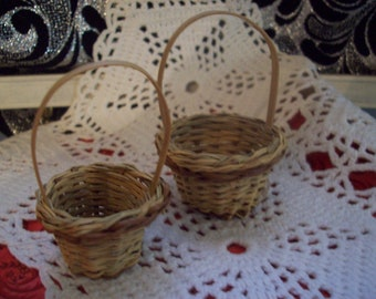 Miniature Baskets/ Little Easter Baskets/ Small Baskets with Handles