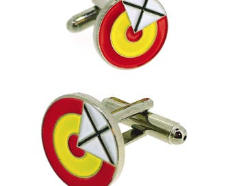 Spanish Air Force Ensign with Cross Cufflinks
