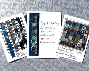Happy Hanukkah Cards,Best Wishes for Hanukkah,Beautiful Handmade Cards,Chanukah Greeting Cards,Jewish Blessing,Judaica,Holiday Cards