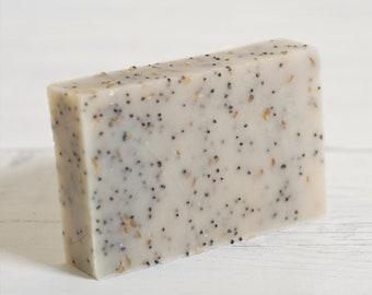 Peppermint Coffee Scrub Soap - Natural Soap, Organic Soap, Cold Process Soap, Handmade Soap