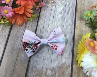 Minnie Mouse Bow- 3 inch, 4 inch, Pigtails