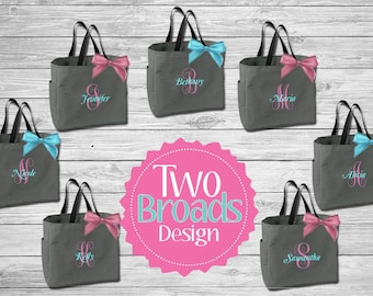 Bridesmaid Totes , bridesmaid gifts , personalized tote bag , bachelorette party gift, bridal party gifts, Monogrammed Totes