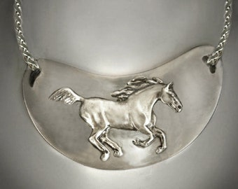 Horse necklace, Wild Horse necklace Running Wild and Free