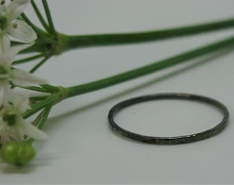 Oxidised Sterling Silver band, stacking ring