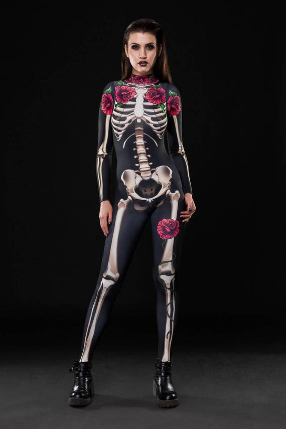 6ix9ine Costume: SKELETON GLAM Halloween Costume Full Body Skeleton Adult