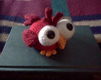 Bird Amigurumi - MADE to ORDER- Rosalind the Ruby Red Kooky-Bird