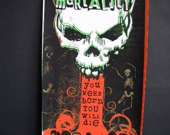 Wall Art, Original Silkscreen Art Poster, Mortality Print