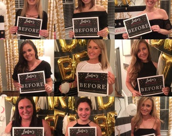 Printable Before and After Mugshot Sign Customized - Bachelorette Party, Photobooth Prop, Personalized, Bachelorette Party Game, Full Page