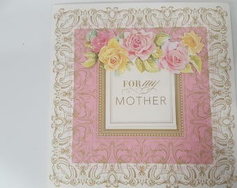 For My Mother pop-up greeting card