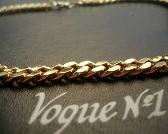vogue No1  chunky necklace. Gold tone 18carat plated 1980-1990