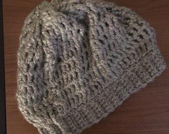 Slouchy Crocheted Beanie