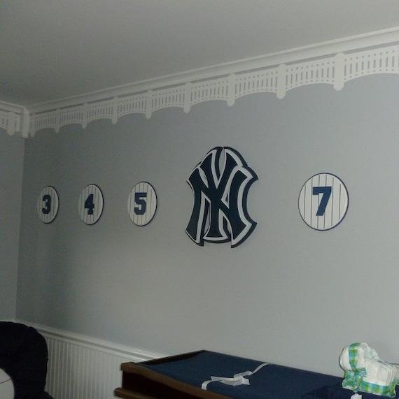 NY Yankee Stadium Stencil DIY Baseball Wall Decor Nursery Man Cave Home Instructions Included