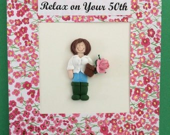 Personalised 30th, 40th, 50th, 60th, 70th, 80th....Birthday/Retirement card for garden lovers, custom made