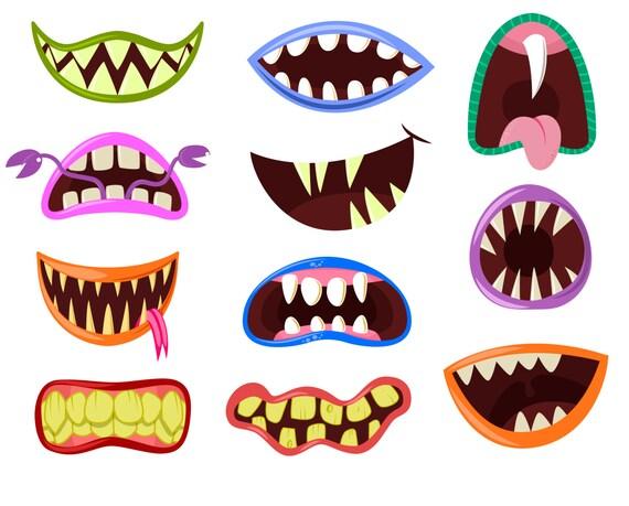 monster mouth clip art monster clipart halloween clipart rh etsy com monster clip art for teachers monsters clip art outline