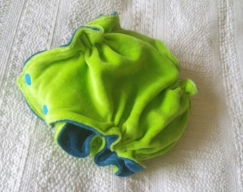 Bamboo velour fitted cloth A12 diaper - small