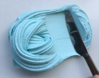 Blue Cotton Candy Butter slime