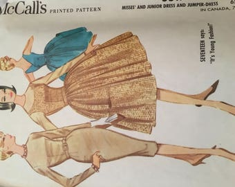 McCall's Misses' and Junior Dress and Jumper Dress 1960's