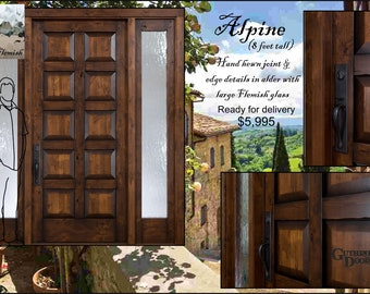 Alpine custom wood hand made entry door system