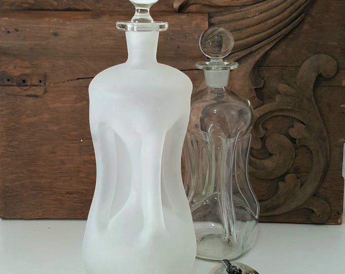 Featured listing image: Danish Modern Frosted Glass Kluk Kluk Decanter