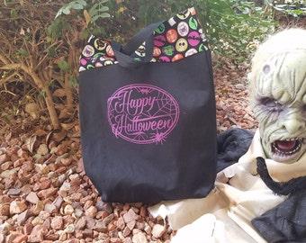 Custom Trick or Treat Tote Bag reusable grocery bag