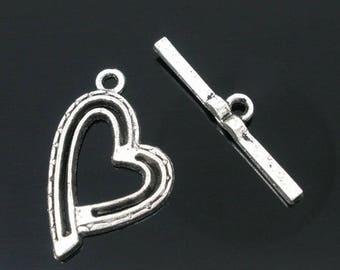 heart shaped toggle clasp