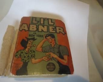 Vintage LI'L Abner In New York Big Little Book, collectable