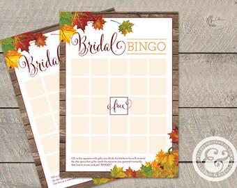 INSTANT DOWNLOAD: Bridal Shower Game - Fall In Love - Bridal Bingo