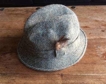 Fetching Fez- style harris tweed hat