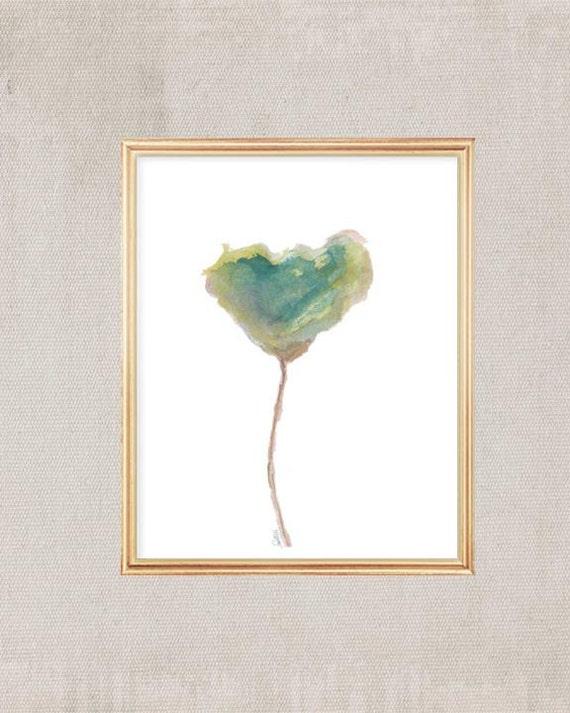 Tulip Watercolor Art Print, 8x10