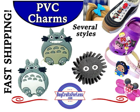 PVC Charms, TOTORO * 20% OFF Any 4 PvC Charms * 1.99 Shipping *For Shoes, Hair, Pins-Choose back-Button, Pin, Slider, Hair Clip, Velcro