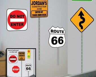 Street Sign Mural Decals ~Custom Road Sign Wall Decals