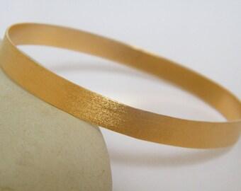 Thin gold bangle elegant gold bracelet  textured gold bangle stackable gold bracelet
