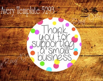 Thank You Label *Instant Download*