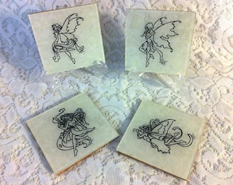 Handmade Fairy Coasters